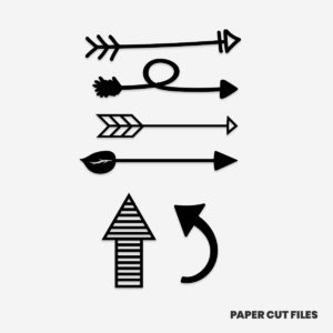 arrow clipart - arrows, directions, bow and arrow SVG PNG paper cutting templates