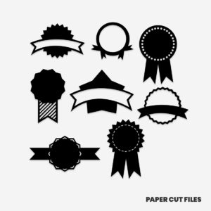 award clipart - trophies, banners, sashes, pennants SVG PNG paper cutting templates