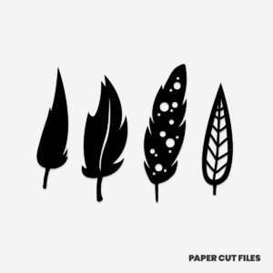 feather clipart - SVG PNG paper cutting templates