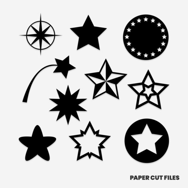 Star clipart - SVG PNG paper cutting templates