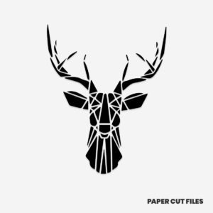 Geometric deer set 1/2