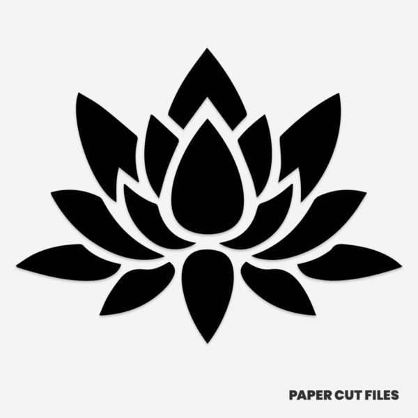 Lotus flower clipart - SVG PNG paper cutting templates