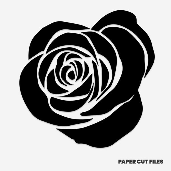 Rose flower clipart - SVG PNG paper cutting templates