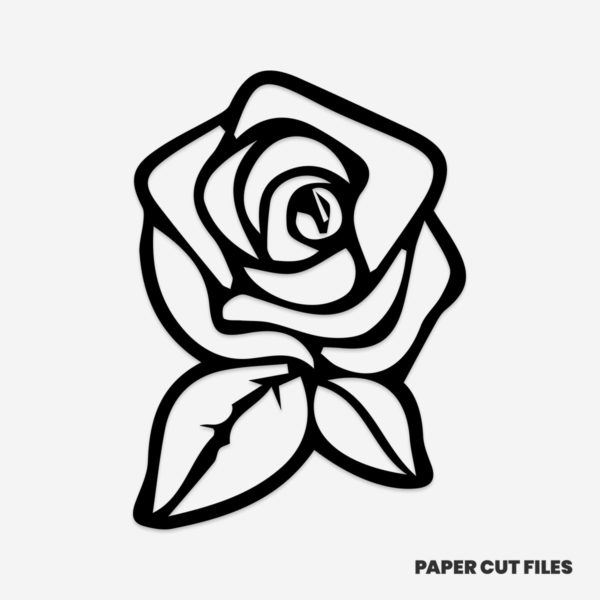 Rose clipart outline - SVG PNG paper cutting templates