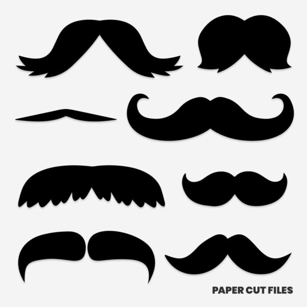 mustache clipart - SVG PNG paper cutting templates