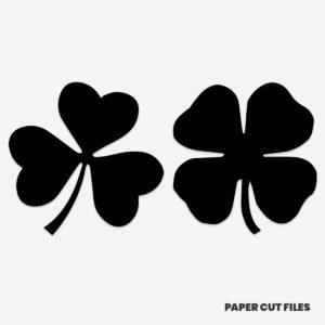 shamrock clipart - SVG PNG paper cutting templates