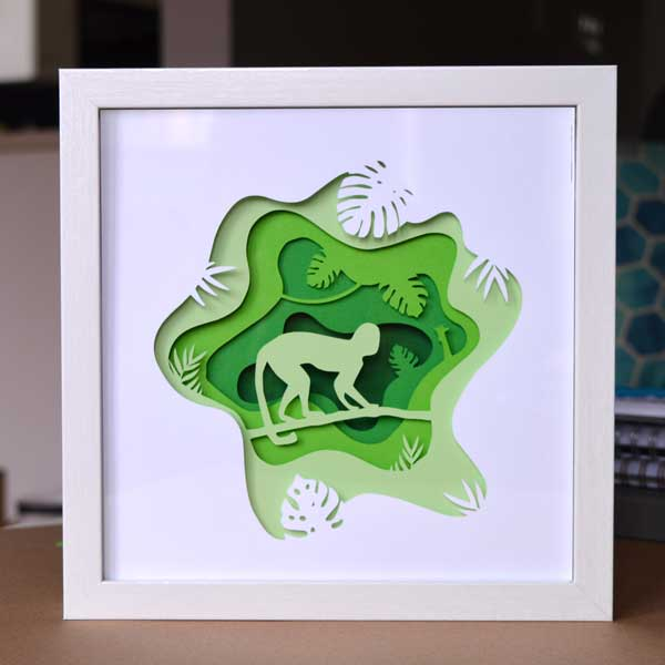 Premium Paper Cut File - Monkey in the Rainforest