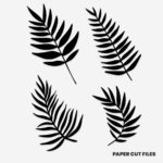 tropical fern clipart 2 of 2 - SVG PNG paper cutting templates