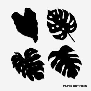 tropical leaves clipart 2 of 2 - SVG PNG paper cutting templates