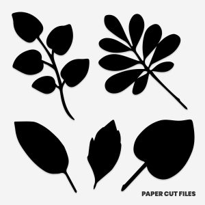 Leaves and branches clipart - SVG PNG paper cutting templates