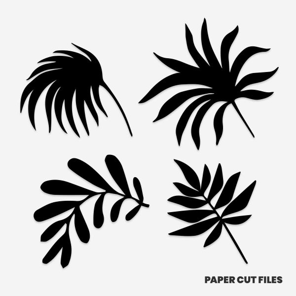 Palms and ferns clipart - SVG PNG paper cutting templates