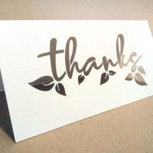 Thank you card 'thanks' - SVG PNG paper cutting templates
